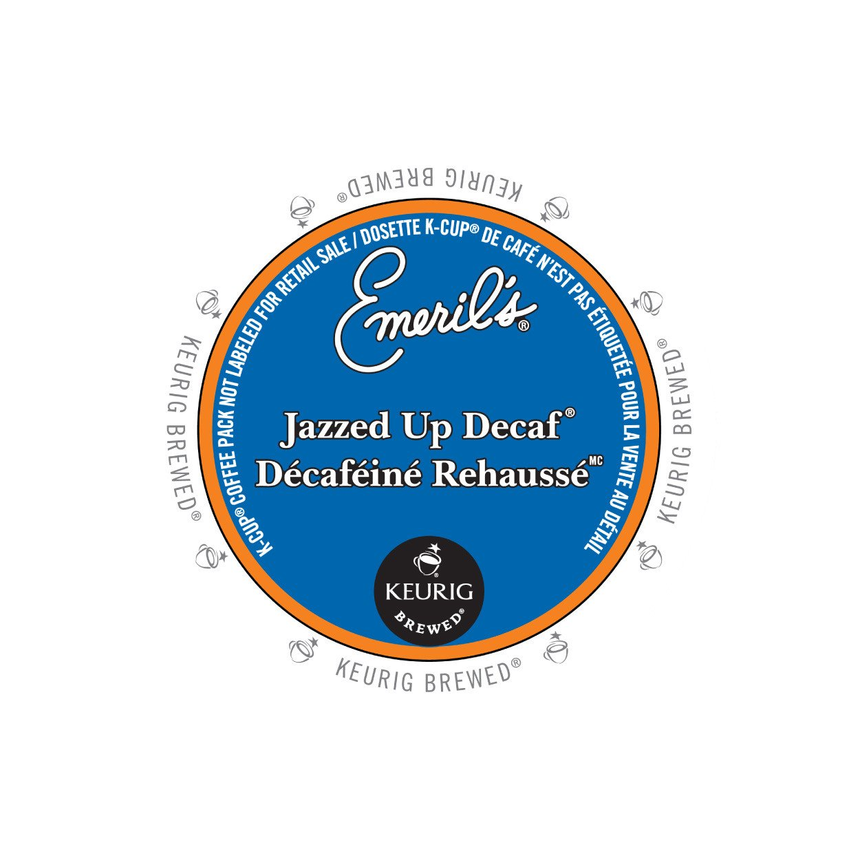 Emerils Jazzed Up Decaf K-Cup 24/Box