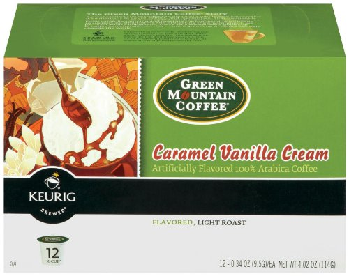 Green Mountain Caramel Vanilla Cream Kcup 24/Box