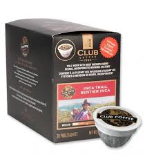 Club Coffee One Cup Purpod 100% Iinca Trail Blend 20/Box
