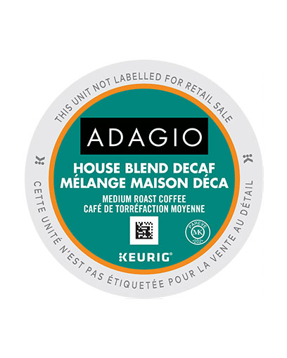Adagio Decaf House Blend K Cup 24/Box