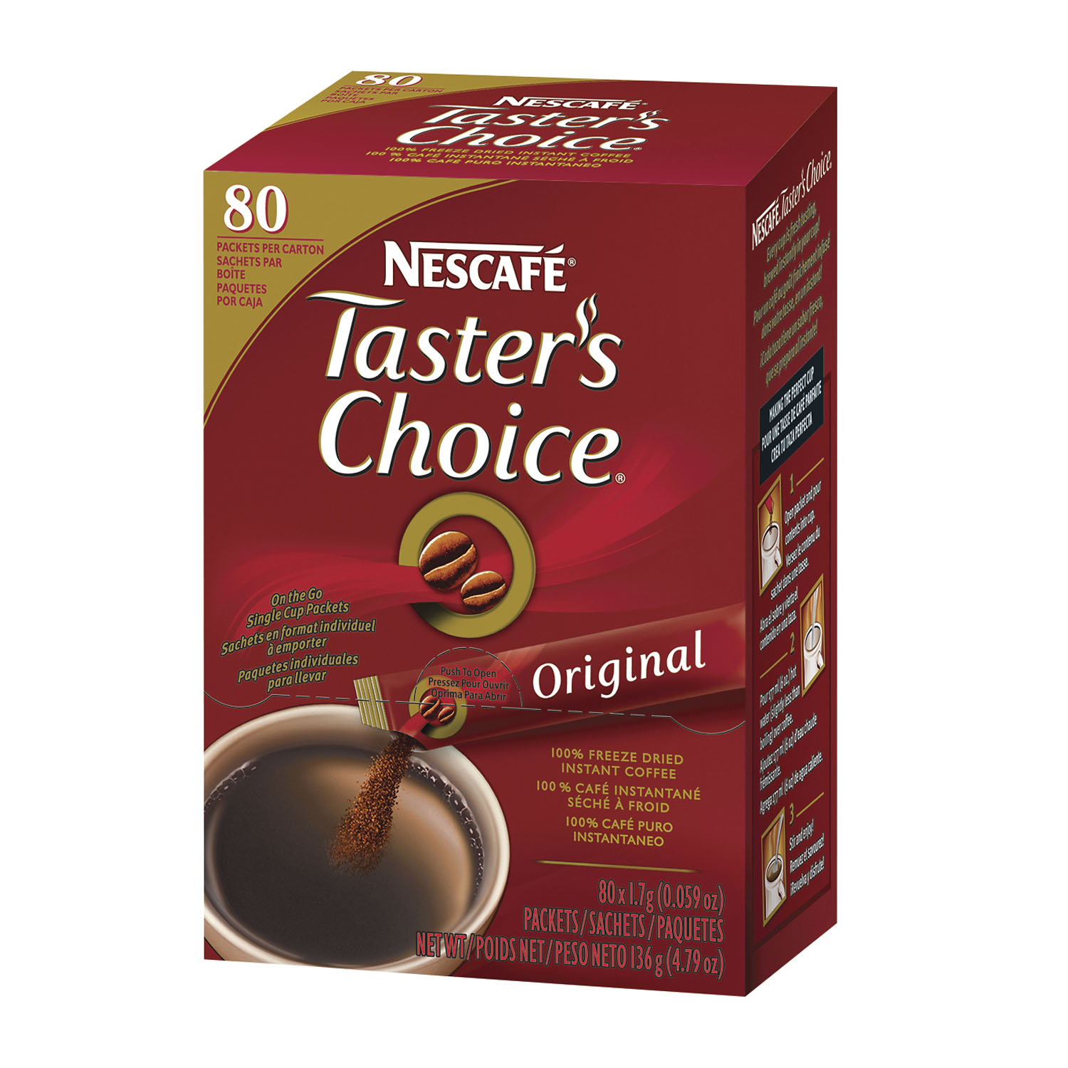 Nescafe Tasters Choice Original Instant Coffee 1.7G